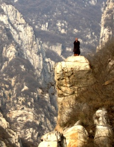 monk on mountain